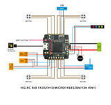 HGLRC XJB F413 DSHOT Flytower F4 Flight Control Tower with 4IN1 BS13A ESC for Indoor Micro RC Racer Quadcopter