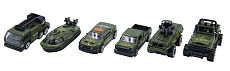 6pcs/set 1:64 Alloy Car Children's Baby Kid Toy Military Series Christmas Gift