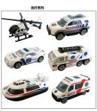 6pcs/set 1:64 Alloy Car Children's Baby Kid Toy Ambulance Series Christmas Gift