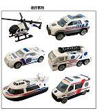 6pcs/set 1:64 Alloy Car Children's Baby Kid Toy Ambulance Series Christmas Gift