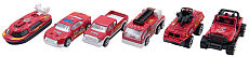 6pcs/set 1:64 Alloy Car Children's Baby Toy Car Fire Truck Series Christmas Gift
