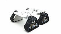 4wd Metal Tank Smart Crawler Robotic Chassis for DIY RC Robot Toy Car 25.5x25x23cm