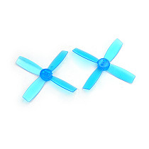 2Pairs 2435 PC Nylon 4 Blade CW CCW Propeller 2.4 Inch Props for Micro Brushless FPV Drone Quadrocopter