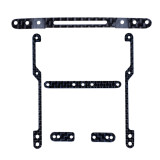 DIY TAMIYA MINI 4WD Car Model Accessories 1.5MM 3K Carbon Fiber Frame kit Black