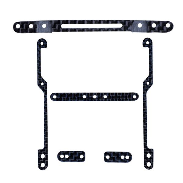 DIY TAMIYA MINI 4WD Car Model Accessories 1.5MM 3K Carbon Fiber Frame kit Black