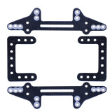 MS Bottom Plate Glass fiber wing set Shock-absorbing mounting bracket DIY TAMIYA MINI 4WD Car Model Accessories