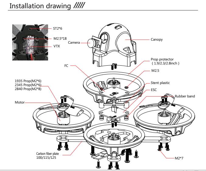 jmt et100 pnp brushless fpv rc racing drone kingkon mini quadcopter w receiver