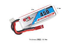 7.4V 450mAh 80C Lipo Battery for KINGKONG ET100 FPV Racing Drone Racer