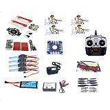F02502-A Full Set RC Helicopter Drone Kit QQ Flight Control 1000KV Motor 30A ESC Lipo F450 Flamewheel 6Ch TX & RX 1045 P