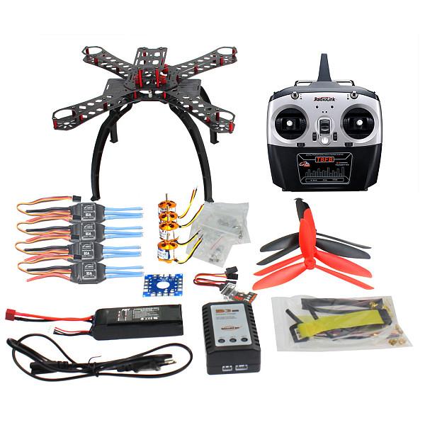 QQ SUPER Multi-rotor Flight Control DIY 310mm Fiberglass Multicopter Kit Radiolink 6CH TX&RX 1400KV Motor 30A ESC