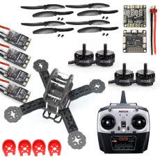 DIY Toys RC FPV Drone Mini Racer Quadcopter Kit 190mm SP Racing F3 Deluxe Flight Controller RadioLink T6EHP-E Remote Con