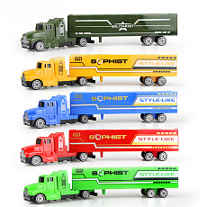 JMT 5 Color Diecast Alloy & Plastic Truck Toy Model Car Container Green Truck Children's Educational Toys for Boy Chirstmas Gift