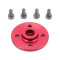 F07822 1 Pcs CNC Aluminum Alloy Servo Plate Round Disc Horn 25T Red Color for FUTABA TOWER Series