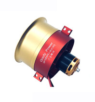 High Quality GP70mm EDF Full Metal Ducts 12 Blades Ducted Fan 4S-6S Lipo Charger 2150KV Motor Electric for RC Jet Airplane