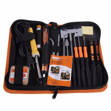 JAKEMY JM-P04 17 pcs DIY Disassemble Welding Soldering Tool Sets Electric Soldering Metal Flux Tweezers Screwdriver Set