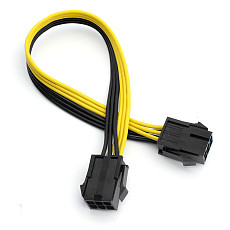XT-XINTE 6P Female to Female Extension Cord Adapter Cable 25CM