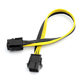 100pcs XT-XINTE 6P Female to Female Extension Cord Adapter Cable 25CM