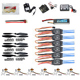 RC Hexa Copter Parts: KK Multi copter V2.3 Hex-Rotor Flight Controller 30A ESC A2212 Motor Battery Propellers