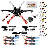 Hexa Copter ARF F550 Hex-Rotor Flame Wheel Kit With KK 2.3 Flight Controller ESC Motor Propeller