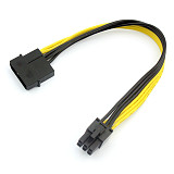 Large 4P to 6P Power Cable single D to 6P Graphics Card Power Adapter Cable 4PIN turn 6PIN Connector Converter