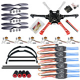F550 Drone FlameWheel Kit With KK 2.3 ESC Motor Carbon Fiber Propellers +Tall Skid PTZ Aerial FPV