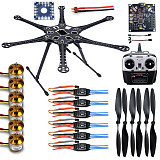 HMF S550 F550 Upgrade Hexacopter 6-Axis Frame Kit with Landing Gear +ESC+Motor+KK XCOPTER V2.9 Board+RX&TX+Propellers