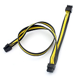 8Pin to 8Pin(6+2) Graphics Video Card Power Supply Cable Dual Double Port Connector 8p to 8p 18AWG Wire Adapter for Computer PC
