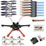 F550 Drone Heli FlameWheel Kit With KK 2.3 Flight Controller ESC Motor Carbon Fiber Propellers