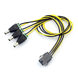 PW-068 6pin to DC Power Connector PCI-E PCI Express PCIE Famale to Male Cable Adapter 6P to 6 DC Power Cable Wire Cord 40cm