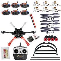 F550 Drone FlameWheel Kit With KK 2.3 ESC Motor Carbon Fiber Propellers + RadioLink 6CH TX RX+Skid PTZ