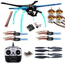 500mm Multi-Rotor Air Frame Kit S500 w/ Landing Gear+ESC+Motor+KK XCOPTER V2.9 Board+RX&TX+Propellers