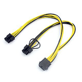 CPU 8Pin Extension Cable 8P(6+2)Pin Famale Power Supply Cable Graphics Card BTC Extend Miner Mining Wire 20cm