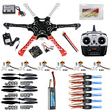 F550 6-Axis FlameWheel KK 2.3 Controller HexaCopter RTF W/ ESC Motor Propeller Battery TX RX