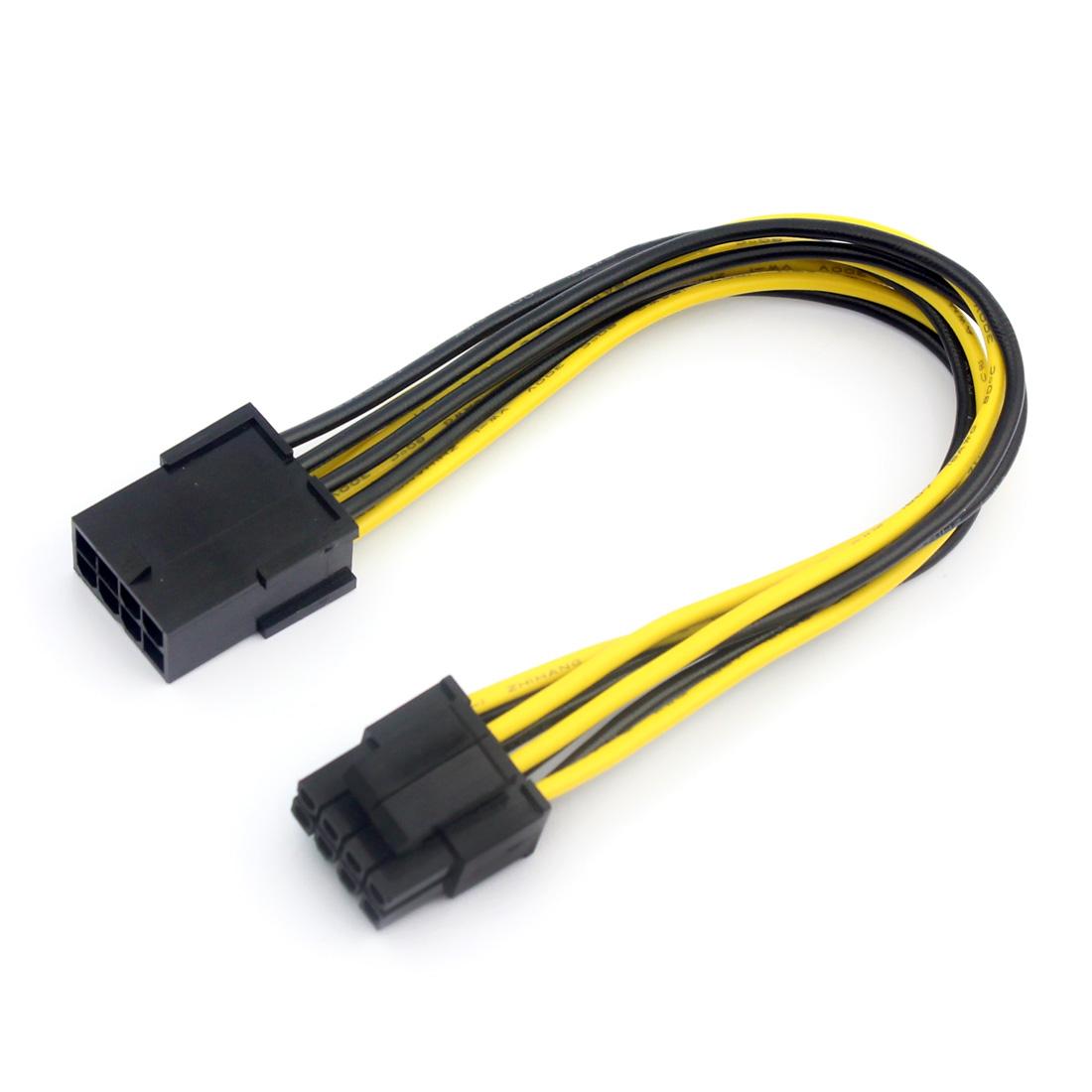 US$ 0.61 - Graphics 8P to CPU 8Pin (4pin +4pin ) Power Cable Adapter ...