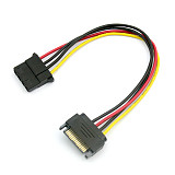 IDE to SATA Large 4P Power Cable 15Pin Male to 4pin Famale SATA Power Adapter Reverse Line Wire SATA Connecotr 20cm
