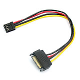 20cm Floppy Drive 4Pin to SATA Male Power Cable Adapter SATA 15PIN to 4Pin Power Cable 18AWG Wire Connector for Computer PC