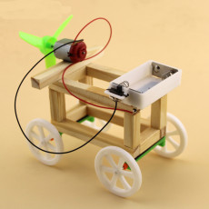 DIY Assemble Model Wind Up Toys Wind Powered Wind-up Toy Car Technology Production Scientific Puzzle DIY Assembling Kit