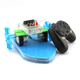 2.4G Remote Control RC Car Boat Electric Power Driven 15*20cm Mini DIY Educational Ship Toys Children Learning Gift Handmade Kit