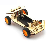 DIY Mini Wooden Electronic Power Vehicle Car Model Kit 4WD Handmade Scientific Experiments Education Toys for Kids Children Gift