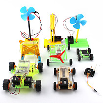 9in1 DIY Manual Handmade Assembly Model Material Block Solar / Electricity Children Educational Technology Puzzle Small Toys Set