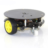 Mini Round Chassis 2WD DIY Smart Car Vehicle Remote Control RC Robot Obstacle Avoidance Car Electronic Education Kit Unassembly