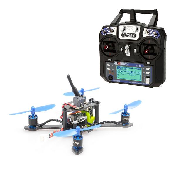JMT Bat-100 100MM Carbon Fiber DIY FPV Micro Brushless Racing Quadcopter RTF with Flysky FSI6 Remote Control