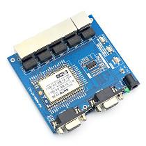 Full Function HLK-RM08K Serial Network / Wireless Module Two-serial Port UART WIFI Module MT7688K with Power Supply