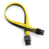 PCI-E PCIE PCI Express 6P Male to 6Pin Male Graphics Video Card DIY Power Cable BTC Extended Miner Mining Wire 18AWG 25cm