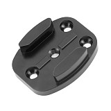 Aluminum Flat Surface Mount w/ Tripod cam adapter (Black ) for Gopro HD Hero2 Hero3 Hero3+
