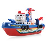 JMT Electric Boat Children Marine Rescue Toys Boat Fire Boat Children Electric Toy Navigation Non-remote Warship Gift High Speed