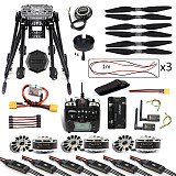 DIY 6-Axle ZD850 Frame Kit APM 2.8 Flight Controller M8N GPS 3DR MHz Telemetry Flysky TH9X TX Motor ESC RC Hexacopter