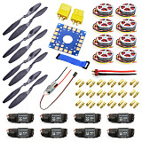Y05307-C 40A Brushless ESC + 14x4.7 3K CF Propeller CW CCW 1447 350KV Brushless Motor ESC Connection Board XT60 T Plug