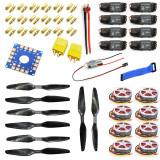 Y05307-A 14x4.7 3K CF Propeller CW CCW 1447 + HOBBYWING Platinum 30A ESC 750KV Brushless Motor ESC Connection Board XT60