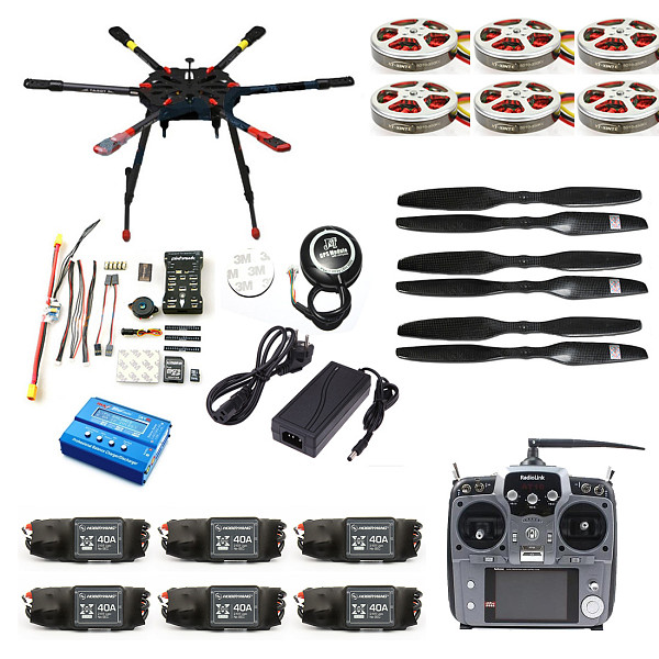 JMT Pro 2.4G 10CH 960mm RC Hexacopter Drone Tarot X6 Folding Retractable PIX PX4 M8N GPS ARF/PNF DIY Unassembly Kit